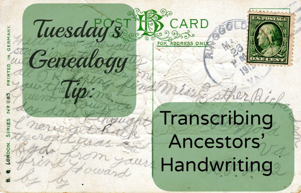 Transcribing Ancestor's Handwriting ~LisaLisson.com