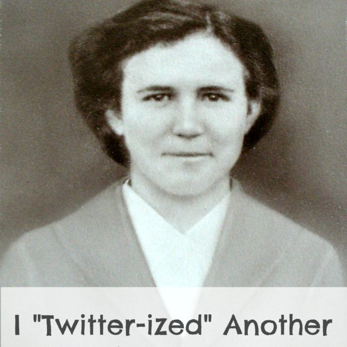 I Twitter-ized Another Ancestor