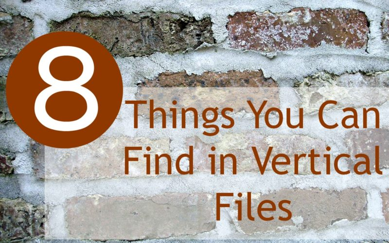 Eight Things You Can Find in Vertical Files