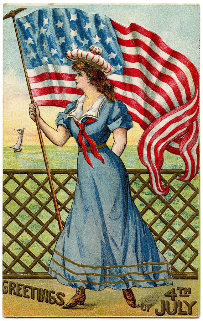 4th of July Vintage Postcard ~ LisaLisson.com