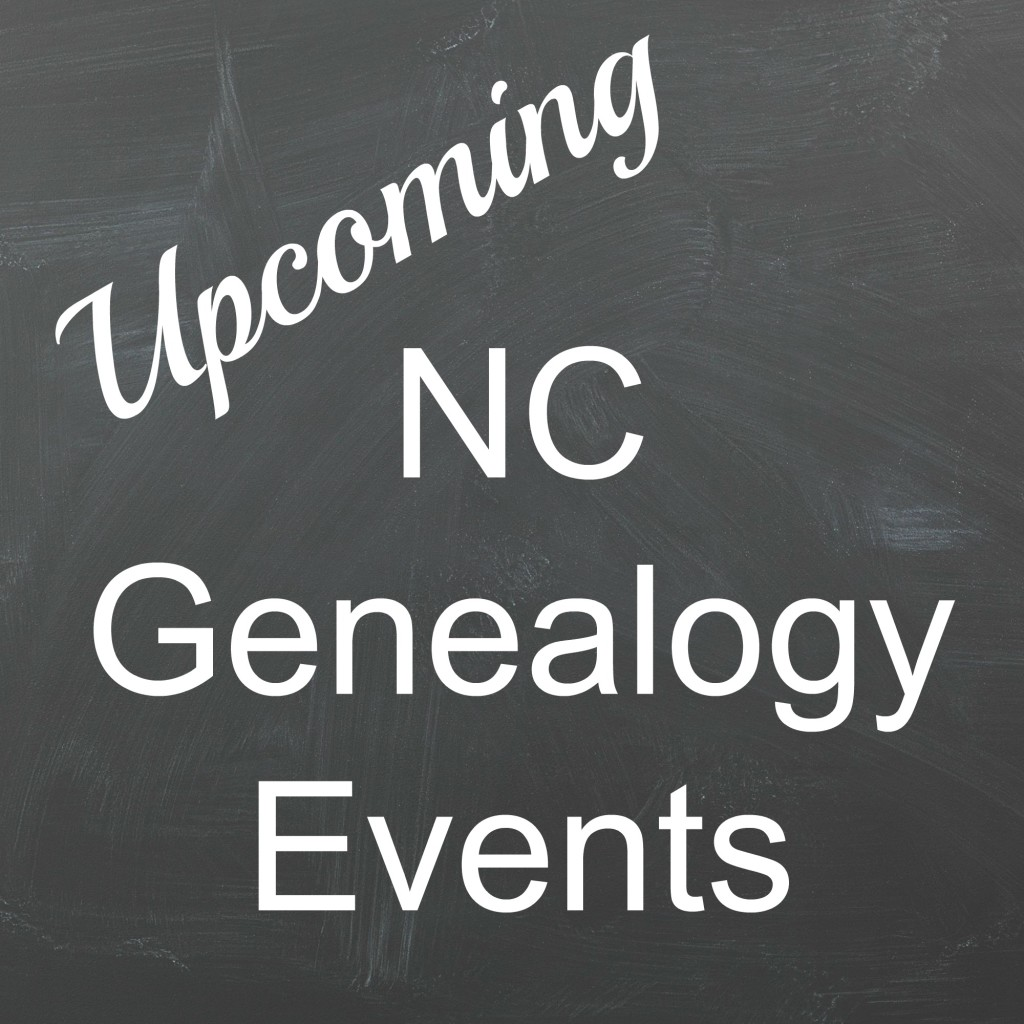 NC Genealogy Events