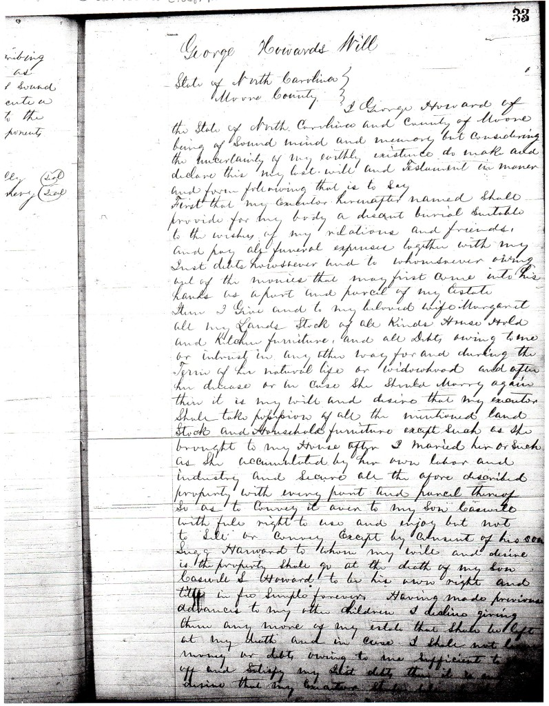 Will of George Howard 1871