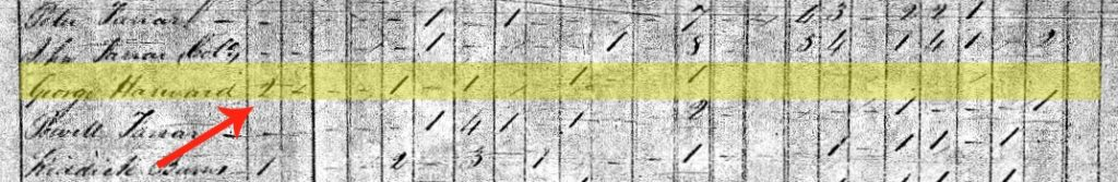 1820 Census George Harward ~LisaLisson.com