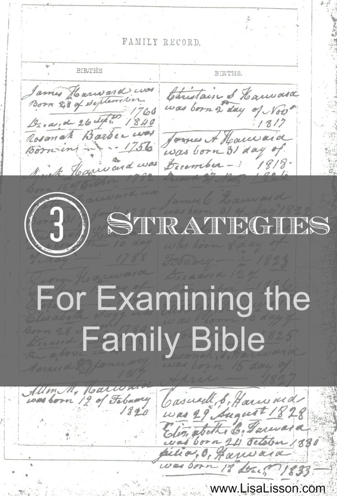 Strategies for Examining the Family Bible ~ LisaLisson.com