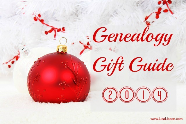 Genealogy Gift Guide 2014 ~ www.LisaLisson.com