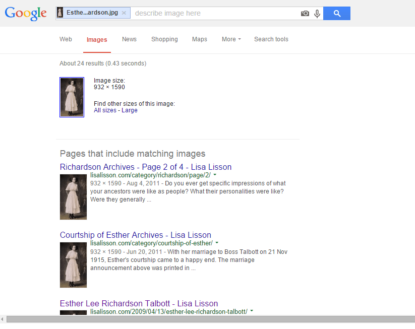 Google Image Search for Esther Richardson