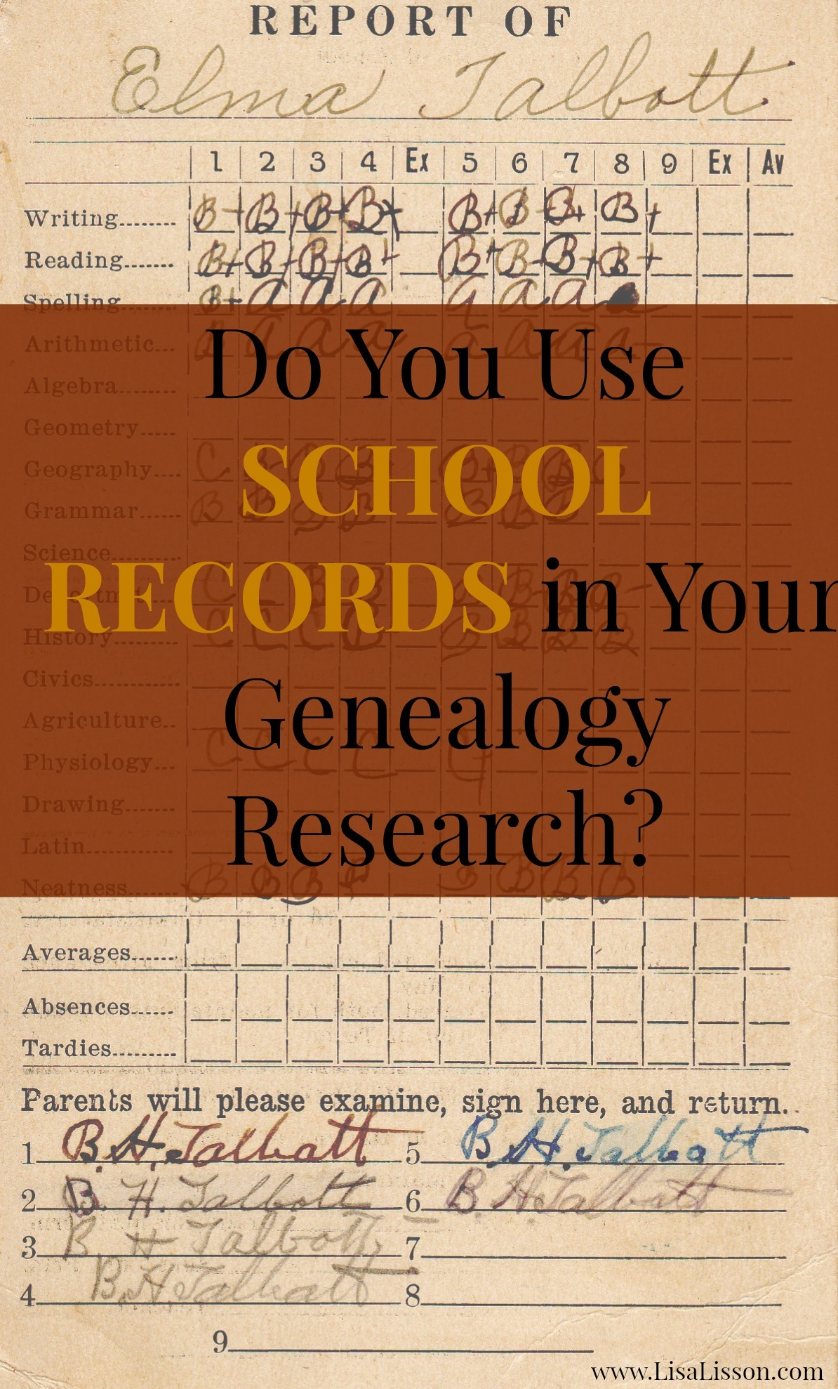 Do You Use School Records in Your Genealogy Research?
