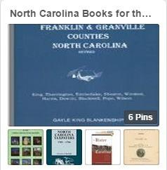 North Carolina Books for the Genealogists