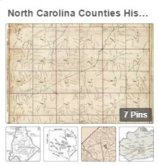 NC Counties Historic Maps on Pinterest