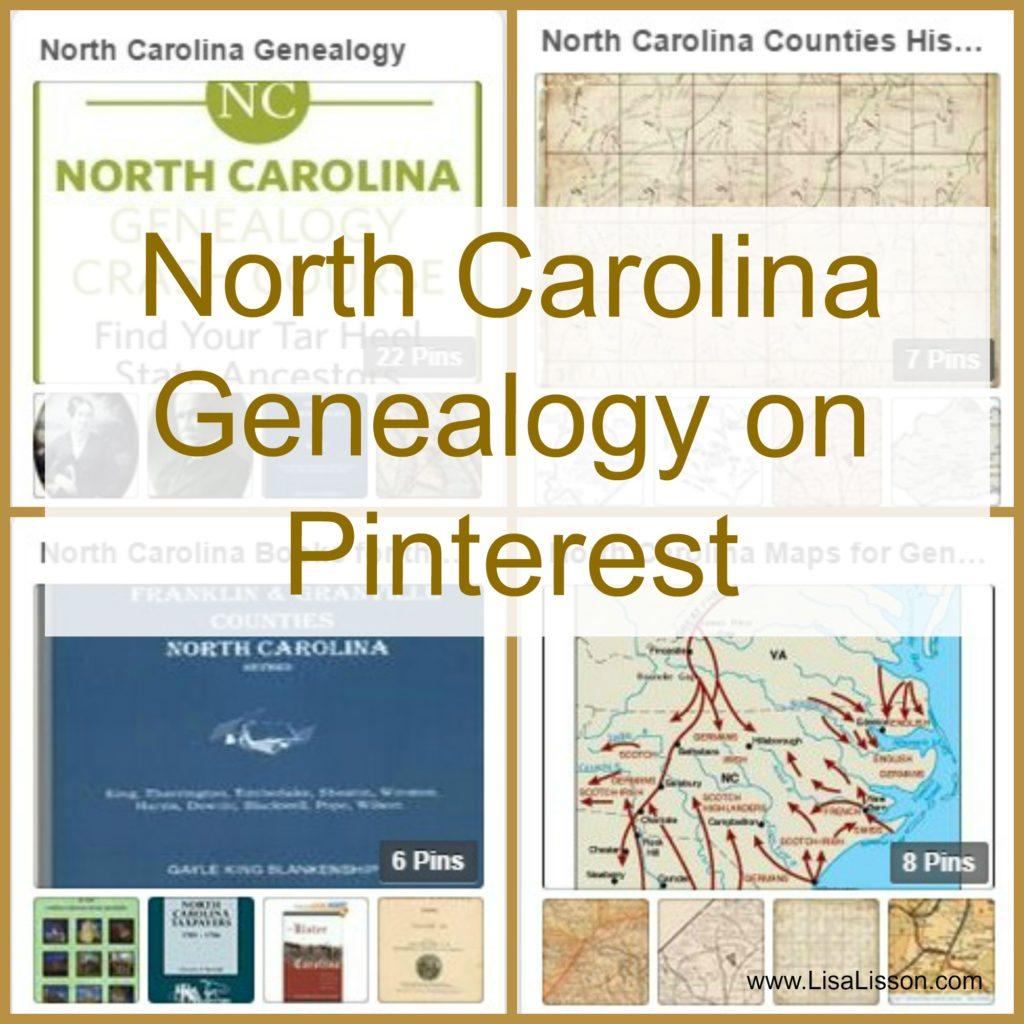 North Carolina Genealogy on Pinterest