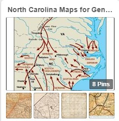 North Carolina Maps  for the Genealogist Pinterest Board
