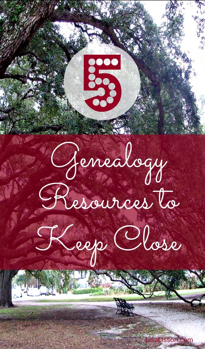 5 Genealogy Resources I Keep Close