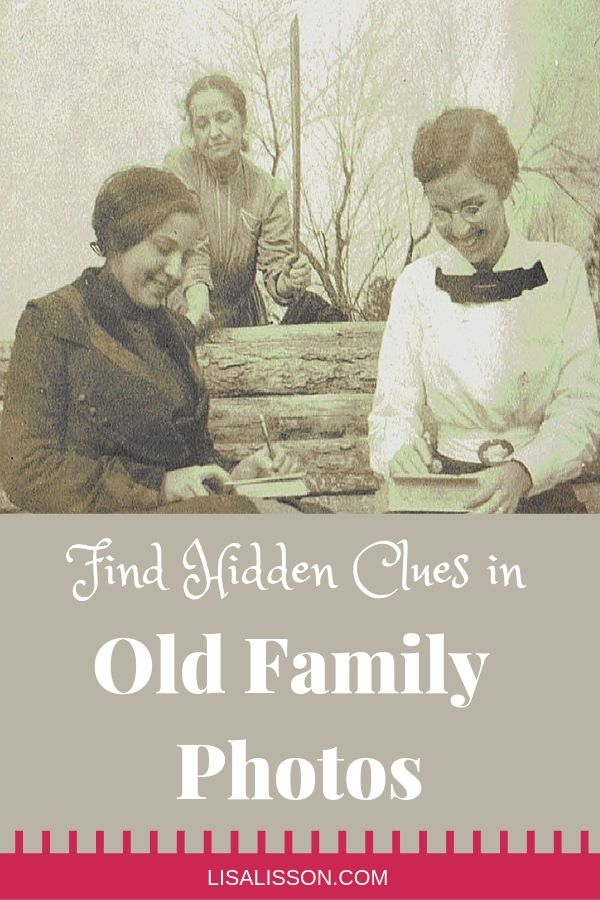 Are family history clues hidden in your old family photos? Learn how to examine those photos for interesting details about your ancestors. #genealogy #ancestors