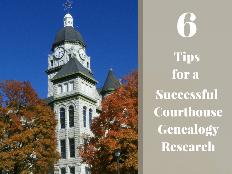 Courthouse genealogy research can be some of your most successful research. Follow these tips to be a more efficient and successful courthouse researcher.