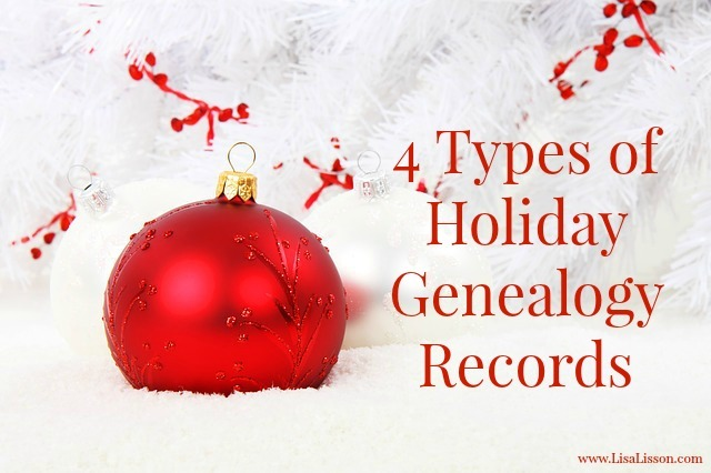 The holidays are upon us. Despite all the rushing of the season, this is a fantastic time of year to research your genealogy and family history. Surprised? Sources and records were generated based on the holidays your ancestors celebrated.
