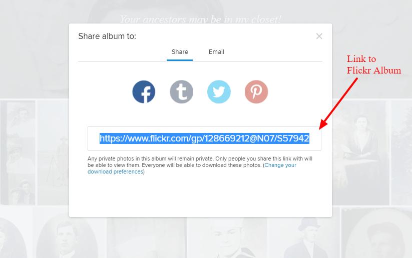 Sharing your Flickr Album