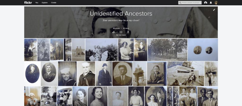 FlickR genealogy photo album