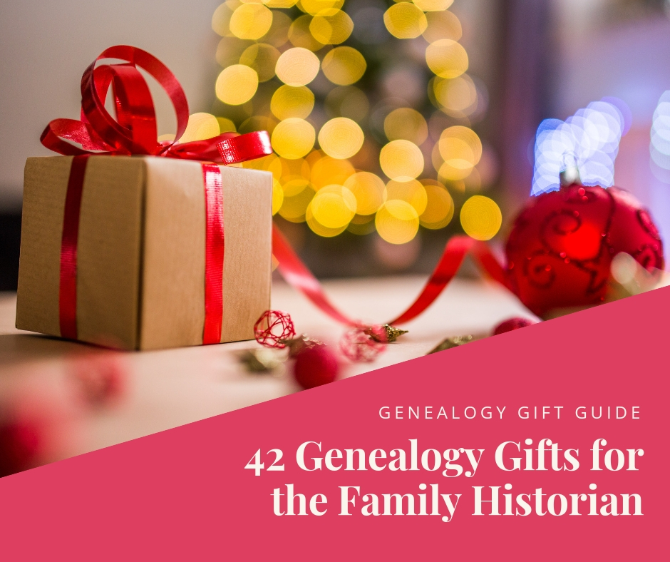 Wondering what to get the family historian for Christmas? Try one of thes 42 gift ideas from the our genealogy gift guide.