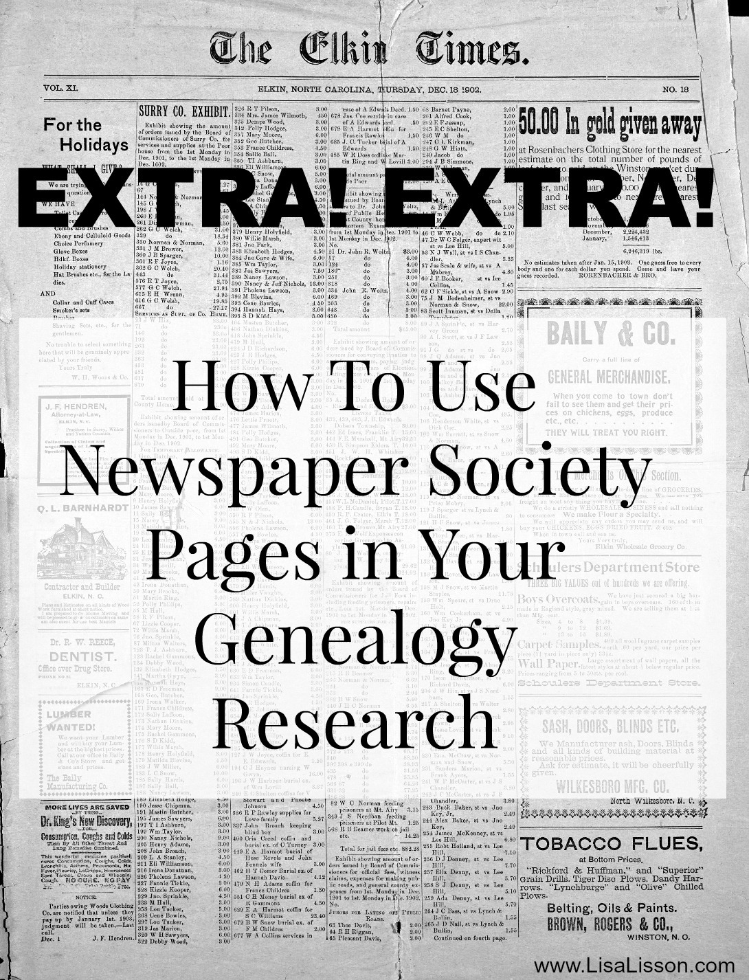 How to Use Newspaper Society Pages in Your Genealogy