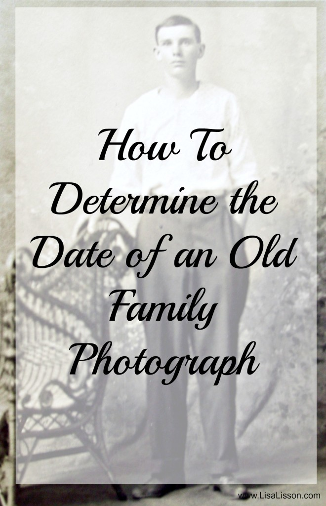 Dating old family photographs