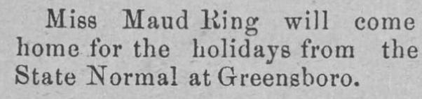 The Elkin Times  Dec 1902 - Maud Ring