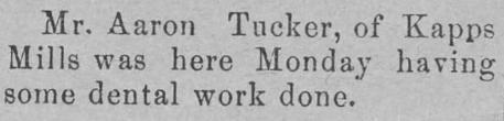 The Elkin Times Dec 1902 - Aaron Tucker