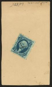 Blue 2 Cent Tax Stamp
