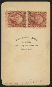 Example of Red 1 Cent Stamp