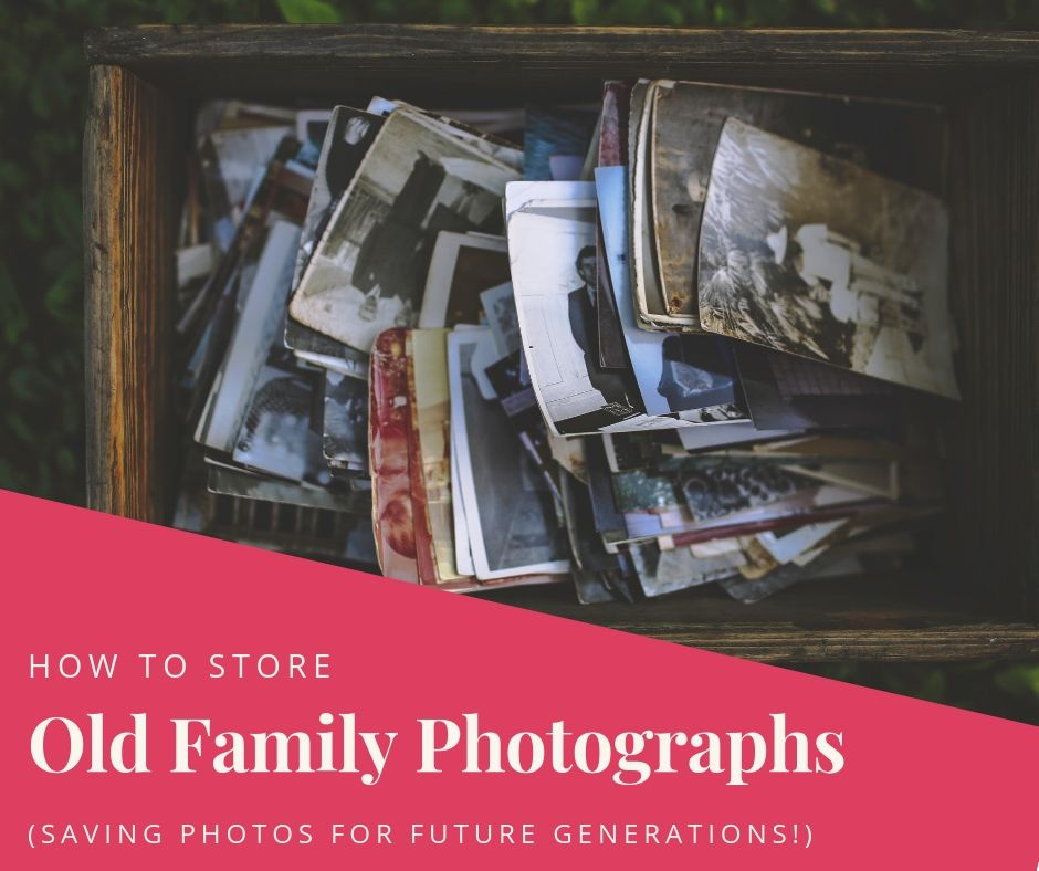Have boxes of family photos? Not sure what to do with them? Learn how to store old photos safely for future generations.