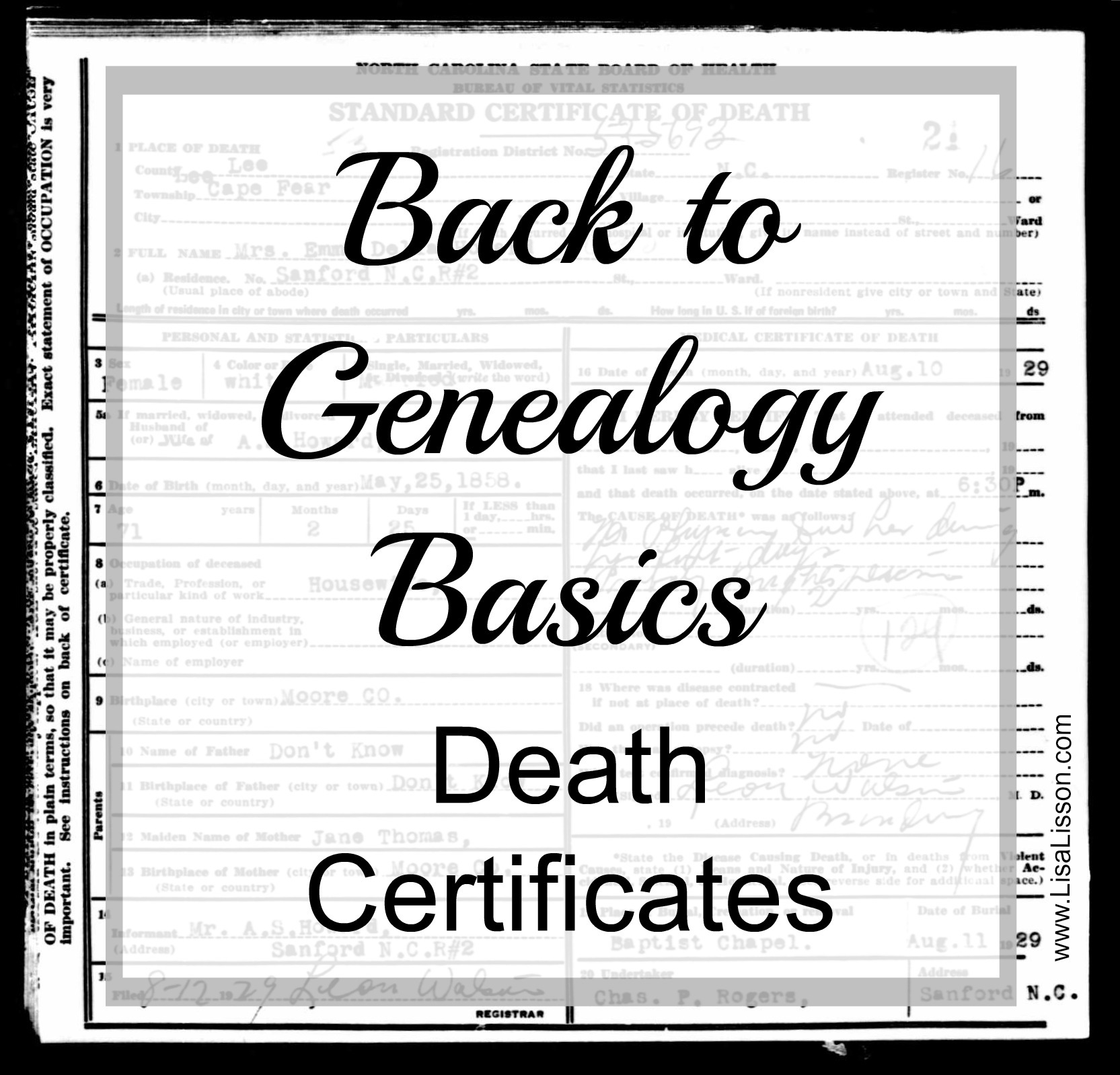 Back to genealogy basics death records are you my cousin death certificates can provide valuable information on your ancestor such as a full name spouses 1betcityfo Image collections