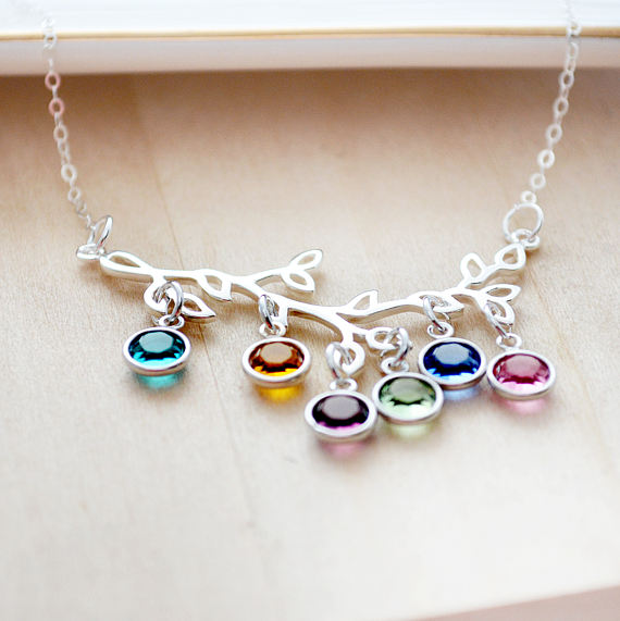 A birthstone family tree necklace is a perfect Mother's Day gift!