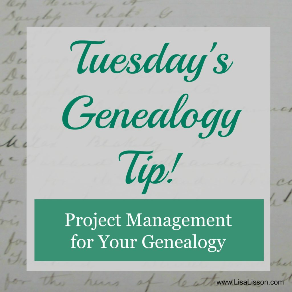 How do you organize and manage your genealogy projects?  There are lots of good options and I'll share three with you today.