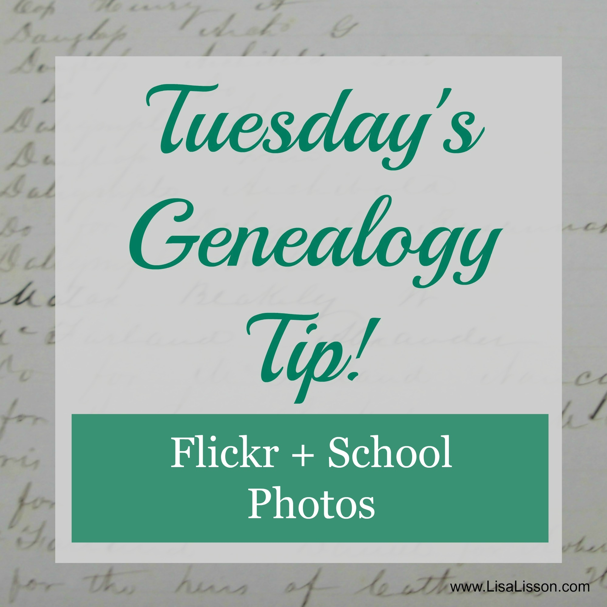Tuesday's Genealogy Tip – School Photos + Flickr