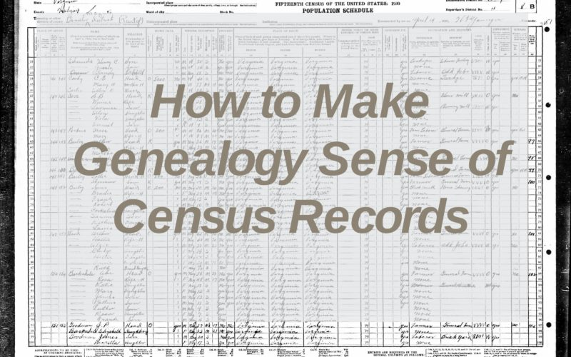 How to Make Genealogy Sense of Census Records – Part 1