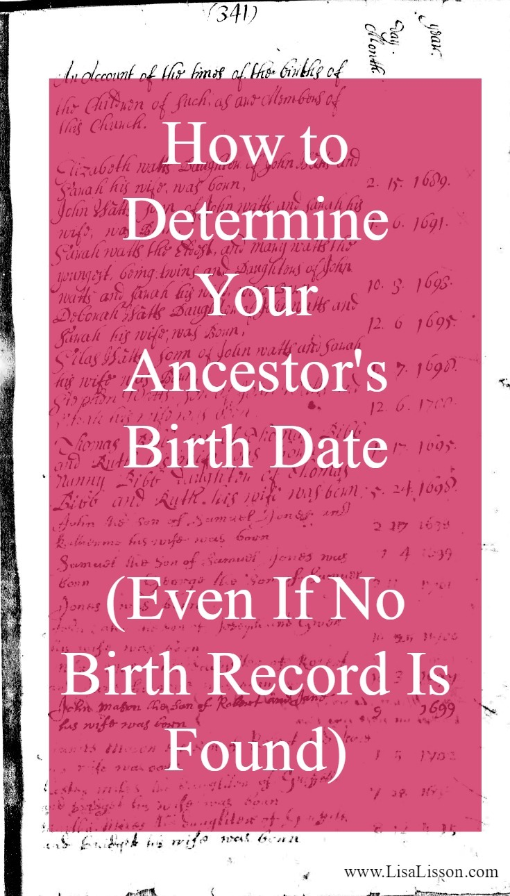 We are familiar with the traditional birth certificate research. We use those for documenting the birth date of an ancestor, their parents' names, and their location in time. But you do not have to go too far back in your research timeline to a point when formal birth records were required. The question in your research very quickly becomes... How do you determine a birth date for your ancestor in the absence of a birth certificate?