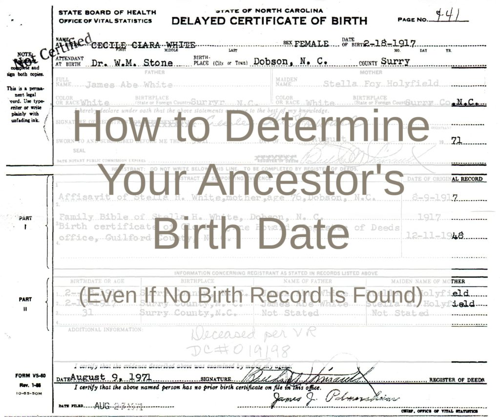 How To Determine Your Ancestor's Birth Date (Even If No