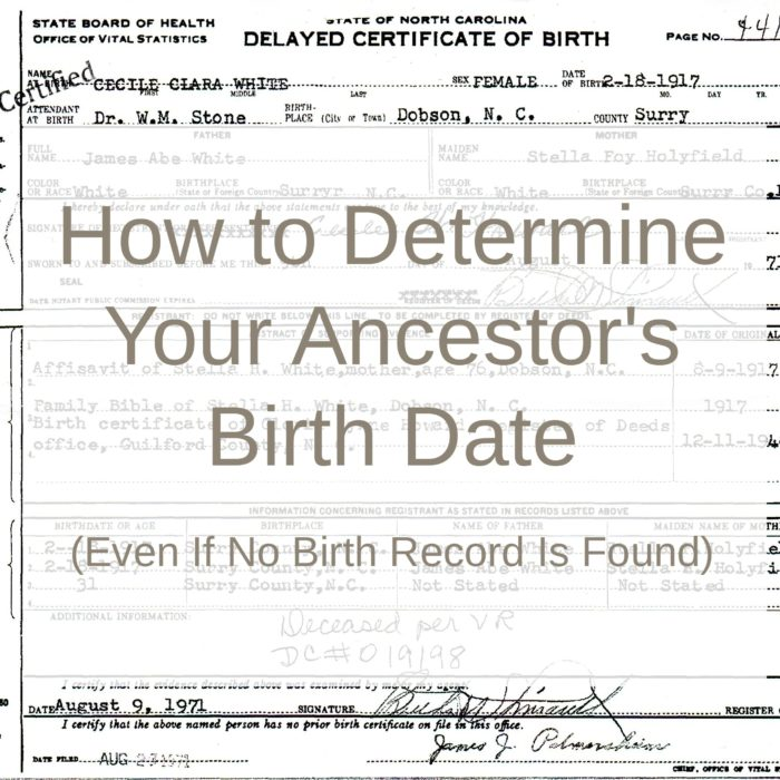 How to Determine Your Ancestor's Birth Date (Even If No Birth Record Is Found)
