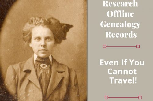 Not all records needed to find your ancestors are found online. Use these tips to research offline genealogy without leaving your home. #genealogy #ancestors