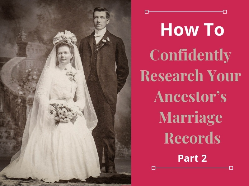 Not finding your ancestor's marriage record? 7 genealogy resources to include in your research plan. #genealogy #ancestors #familyhistory