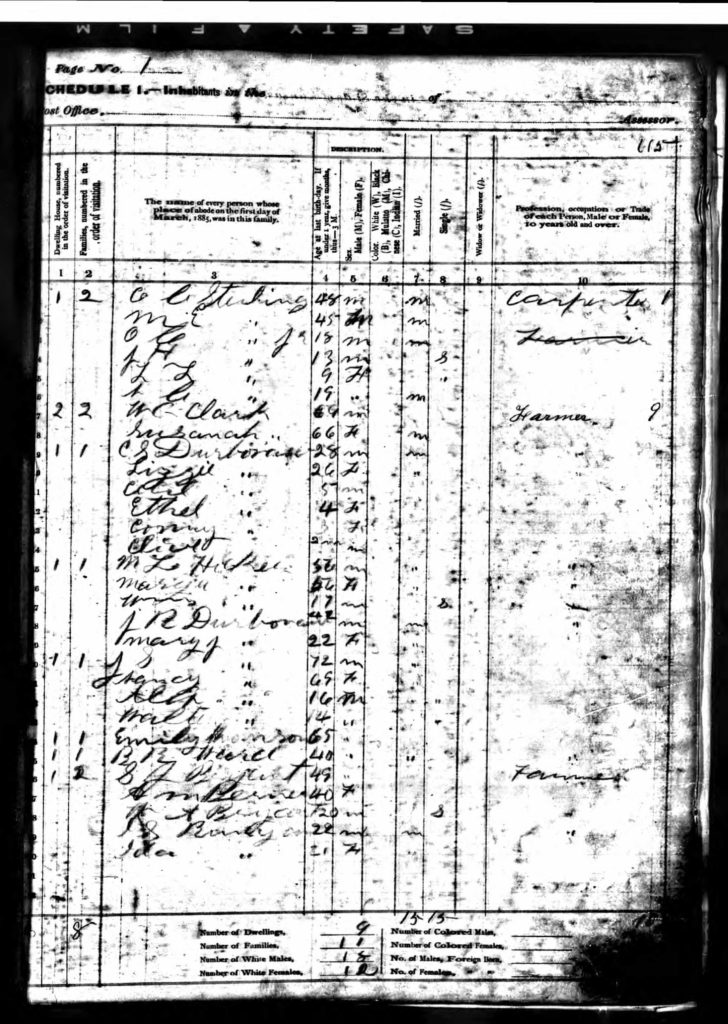 Using State Census records in the absence of the 1890 census