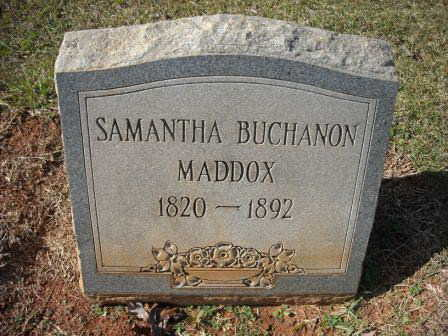 Semantha Buchanon Maddox Gravestone