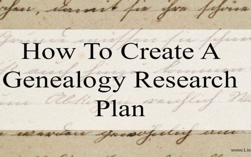 How to Create Your Genealogy Research Plan