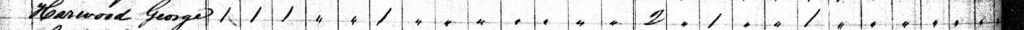 1830 Census Record for George Harward