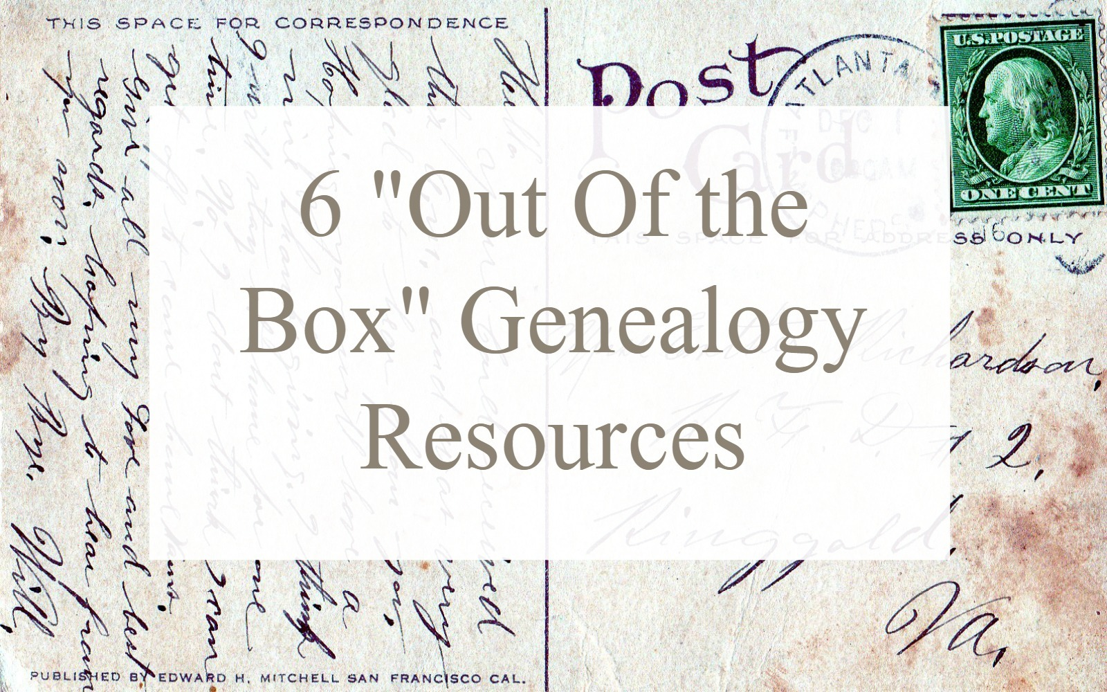 When traditional records have been exhausted or if they no longer exists, think outside the genealogy box. Consider what your ancestor may have kept and passed. Consider what the community may have created and kept.
