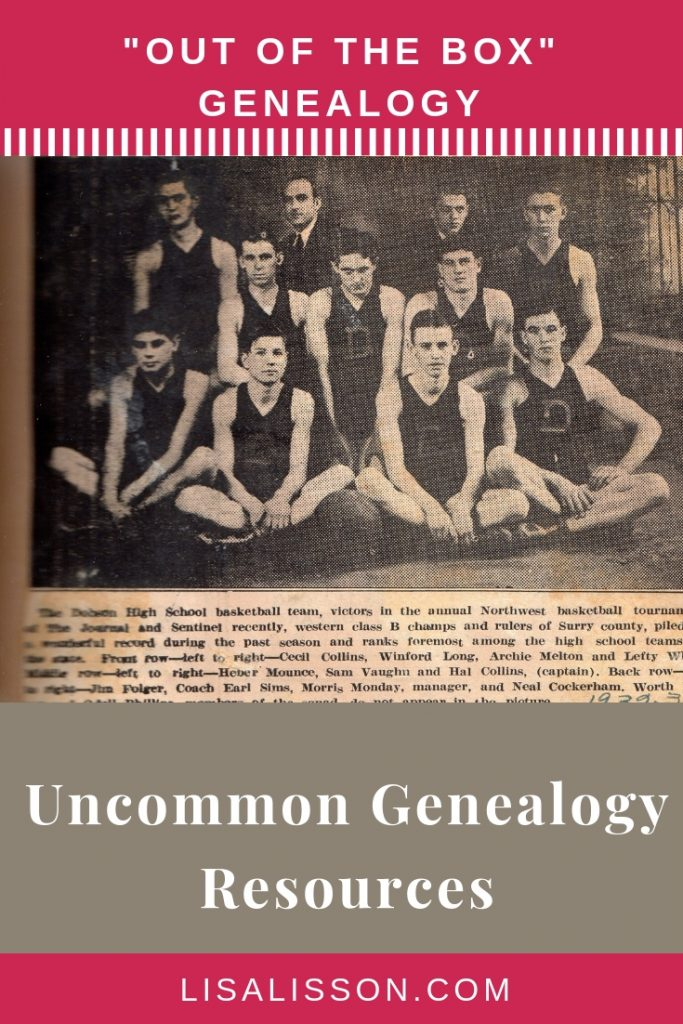 "Is your genealogy research stuck? Try these 6 uncommon or ""out fo the genealogy box"" resources! You'll be glad you did.  #genealogy #ancestors #findyourancestors"