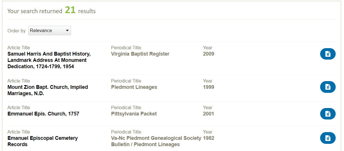 Using PERSI for genealogy research