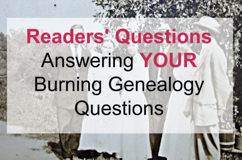 Answering readers' questions on genealogy research! We cover topics such as finding death and birth dates, name misspellings/changes.......