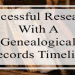 Successful Research With A Genealogical Records Timeline