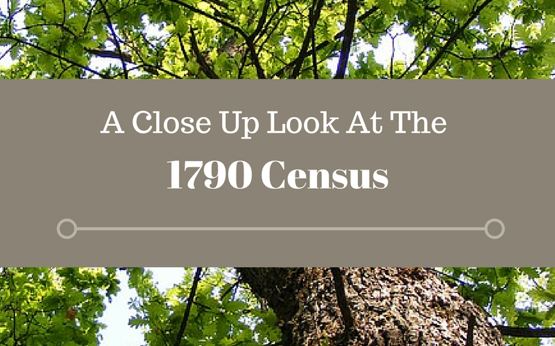 A Close Up Look At The 1790 Census