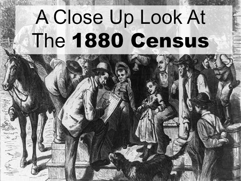 The 1880 US Federal census holds much information about your ancestor(s). But.... Are you missing clues within its pages that can jump start your genealogy research?